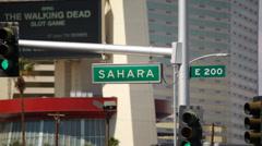 Sahara Blvd 01 HD Street sign of Sahara Boulevard in Las Vegas, Nevada. Stock Footage