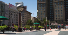 People in downtown San Francisco Union Square 4k Stock Footage