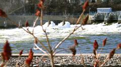 Hydro Dam Fox River Stock Footage