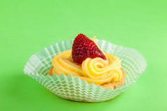 Strawberry pastry Stock Photos