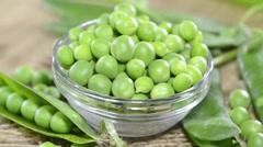 Peas (loopable) Stock Footage