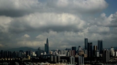 Panorama view of Shenzhen city, Guangdong Province, China Stock Footage