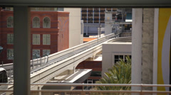 Vegas Monorail 09 HD The Las Vegas monorail passing by on a sunny day. Stock Footage