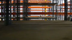 Pan around a large empty warehouse 4k Stock Footage