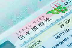 Passport stamp for travel concept background Stock Photos