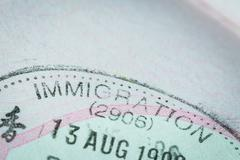 passport stamp visa for travel concept background - stock photo