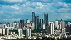 Panorama view of Shenzhen city Stock Footage