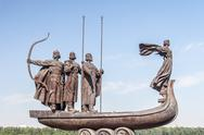 Stock Photo of Monument to founders of Kiev
