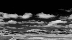 The Gabilan Range Timelapse With Spectacular Clouds Infrared - stock footage