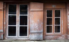 Stock Photo of facade of a house, dinan, cotes-d'armor, brittany, france
