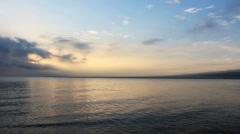 Sunrise of Qinghai lake,China Stock Footage