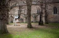 Stock Photo of water well in the park of a fort, chateau de dinan, dinan, cotes-d'armor, bri