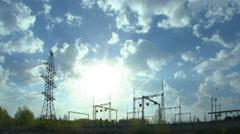Sähkö voimalaitos Viivästys pilviä Arkistovideo