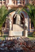 Statue of virgin mary at a church, iglesia matriz de providencia, santiago, c Stock Photos