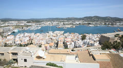 view of old quarter of ibiza from the top of dalt vila - stock footage