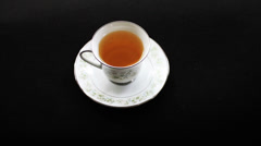 1600 Tea in Tea Cup Stock Footage