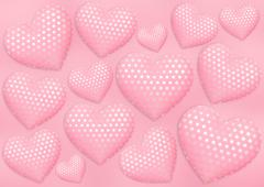 Decorative hearts Stock Illustration