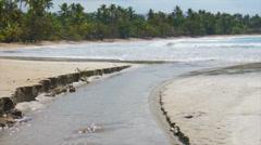 Caribbean tide Stock Footage