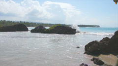 Natural caribbean bay Stock Footage
