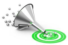 the ecological target - stock illustration