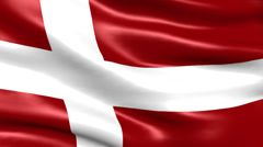 Denmark Flag looping background Stock Footage