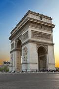 Arc de Triumph, in Paris Stock Photos