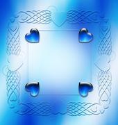 Elegant ornament frame design resource Stock Photos
