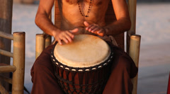 Artists play the drums on Koh Phangan, Thailand Stock Footage
