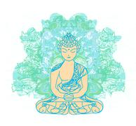 Stock Illustration of chinese traditional artistic buddhism pattern