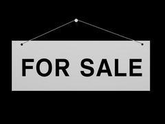 Signboard for sale Stock Illustration