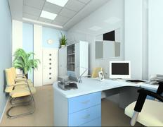 office of the bookkeeper - stock illustration