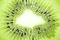 Kiwi close up crop Stock Photos