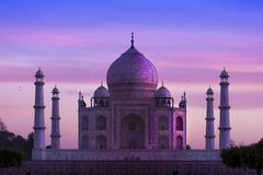 taj mahal ,agra, india - stock photo