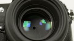 Photo camera iris long exposures loopable audio 11344 Stock Footage