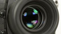 Photo camera iris short exposures loopable audio 11346 Stock Footage