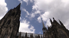 Cologne Cathedral against sky in Cologne, Germany Stock Footage