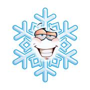 snowflake emoticon - smug - stock illustration