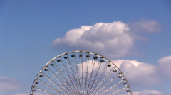 Ferris wheel against sky in Cologne Stock Footage
