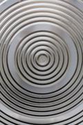 Circular classy aluminium surface Stock Photos
