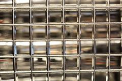 Glass blocks simple wall economy Stock Photos