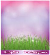 background spring - stock illustration