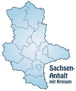 map of saxony-anhalt - stock illustration