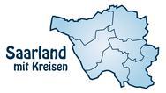 Map of saarland Stock Illustration