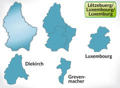 Stock Illustration of map of luxembourg