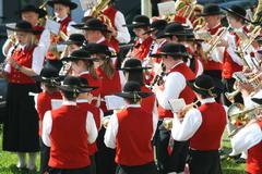 alpine brass band - stock photo