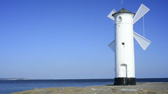 Swinoujscie, town's landmark the Stawa Mlyny Stock Footage