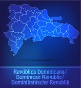 Map of dominican republic Stock Illustration