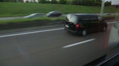 cars overtaking driving on motorway in belgium - stock footage