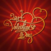 Glamorous gold - 2014 valentines day Stock Illustration