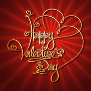 Glamorous gold - happy valentines day Stock Illustration